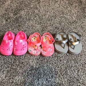 Baby girl size 2 shoe lot